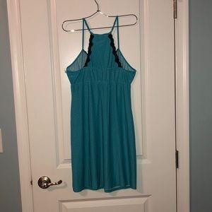Apt. 9 Intimates & Sleepwear - Teal & black polka dot nightgown